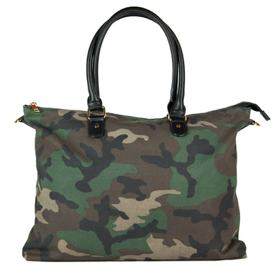 Green Camo Satchel with Prism Strap