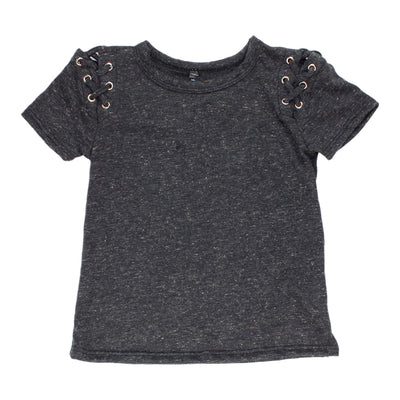 Short Sleeve Lace Side Top
