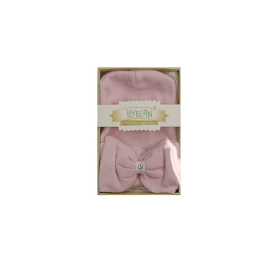Newborn Cap Pink Bow with Gem