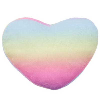 Tie Dye Heart Pillow with Pink Fur Back