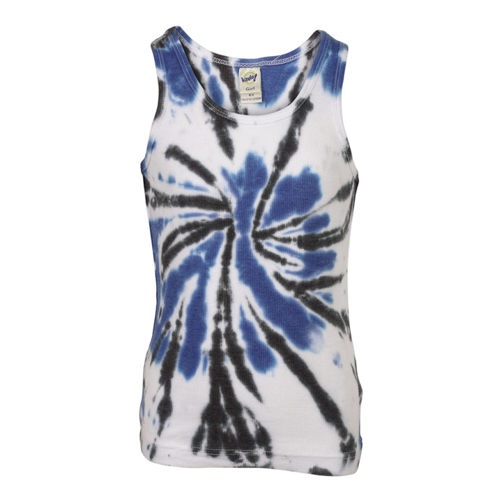 Blue Black Spider Tie Dye Tank