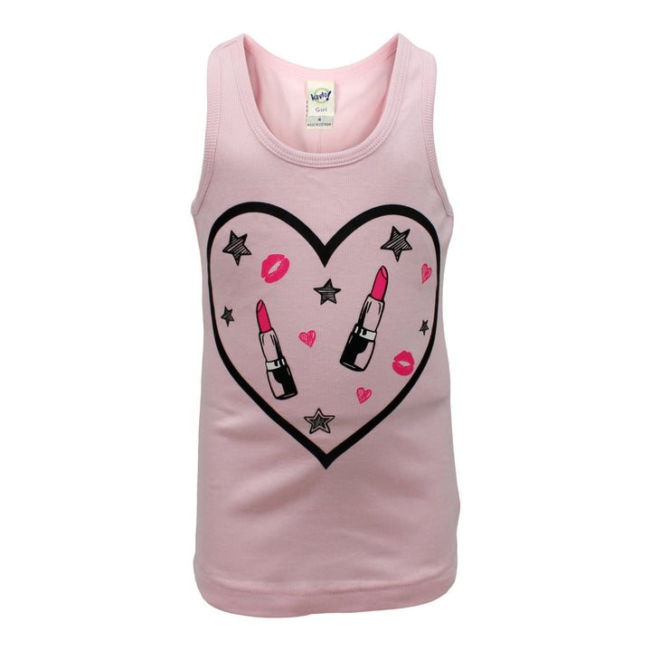 Tank with Lipstick Heart