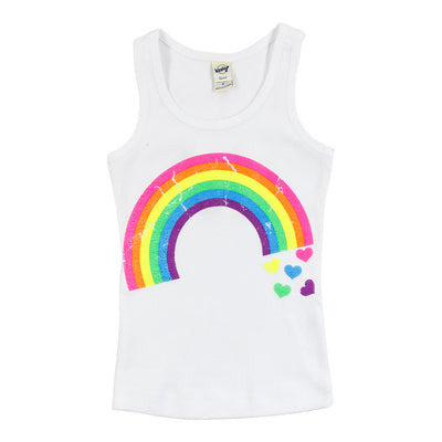 Tank with Rainbow Hearts