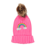 Pom Beanie Rainbow Dazzle - Fits Sizes 7-14 & Juniors