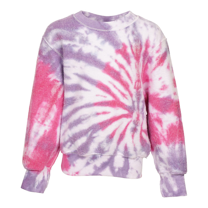 Pink & Purple Spiral Reverse Fleece Sweatshirt