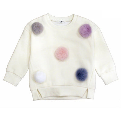 Long Sleeve Pom Pom Sweatshirt