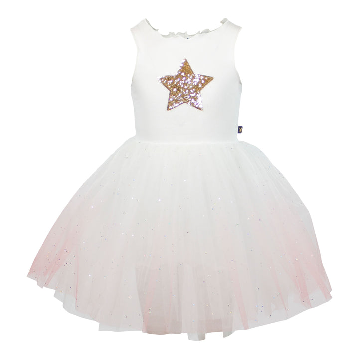 Tutu Dress with Ombre Sparkle Star
