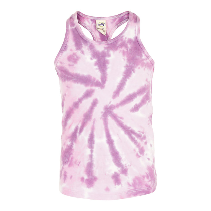 Racerback Tank Top Pink Purple Tie Dye