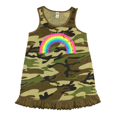Tank Dress with Rainbow Stones