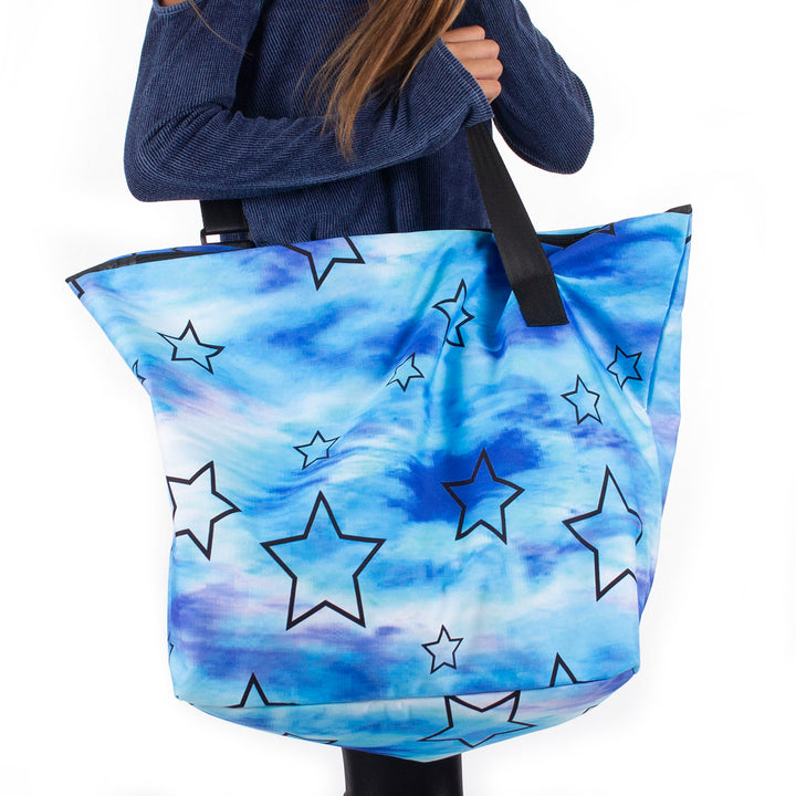 Canvas Star Tie Dye Tote Water Color
