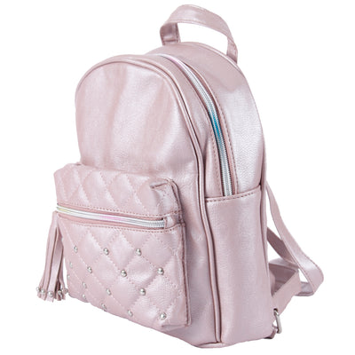 Pearlized Mini Backpack Quilted