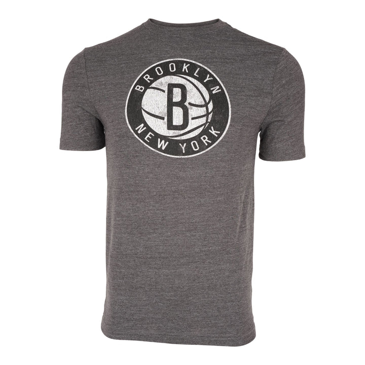 Nets Distressed Logo Triblend Tee