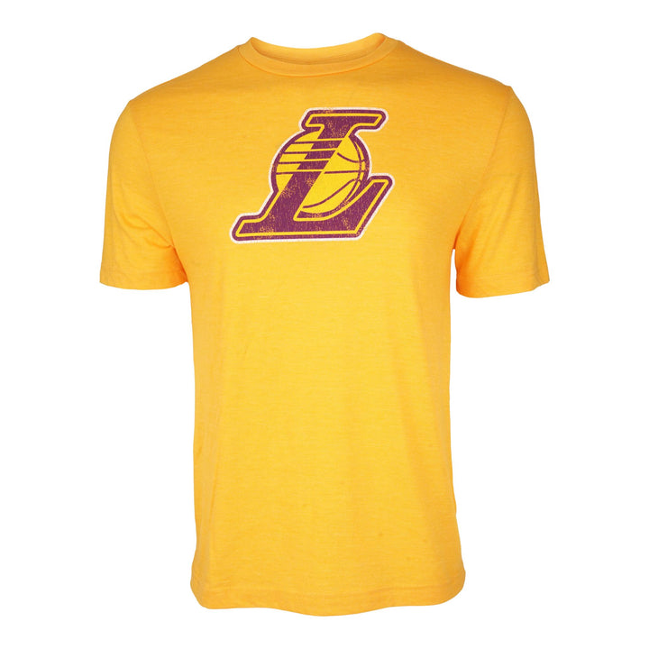 Lakers Distressed Logo Triblend Tee