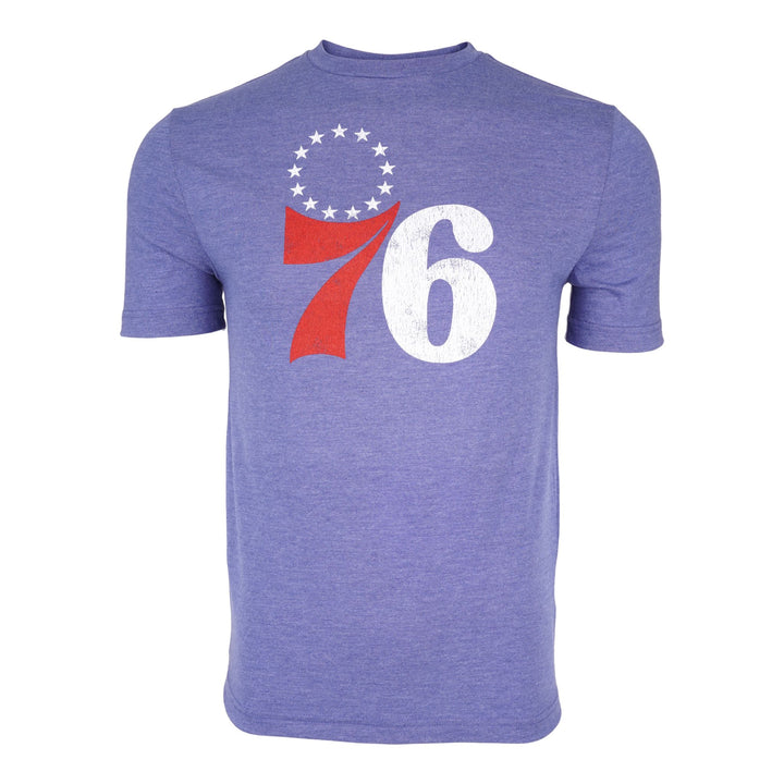 76ers Distressed Logo Triblend Tee