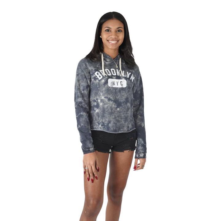 Crystal Wash Brooklyn Crop Hoodie