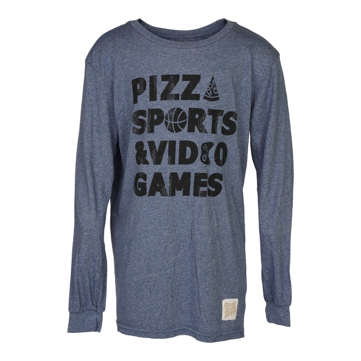 Pizza Sports Video Games Long Sleeve Tee
