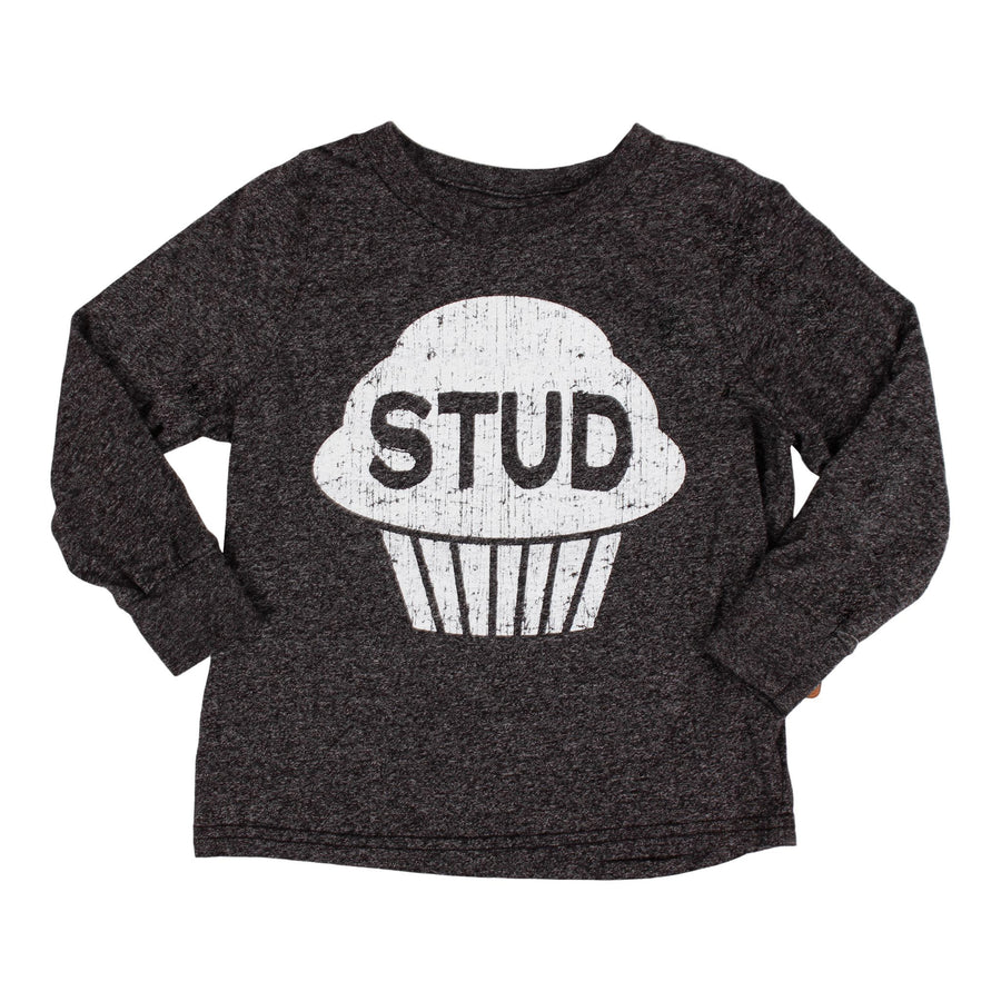 Long Sleeve Tee with Stud Muffin