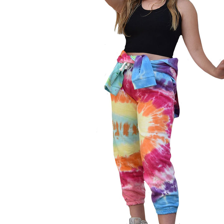 Primary Tie Dye Ripped Jogger