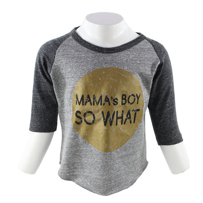 Raglan Vintage/Onyx Mama Boy So What