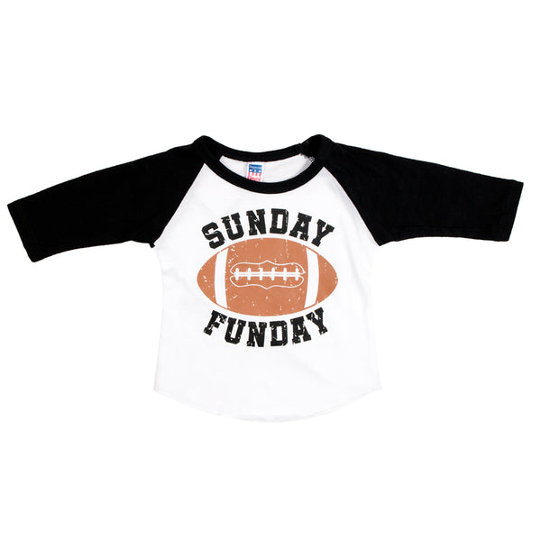 Raglan White Black Sunday Funday