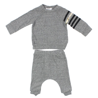 2pc Cozy Set Stripe Sleeve