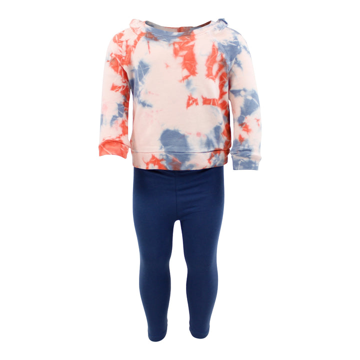 2pc Tie Dye Top & Indigo Pant Set