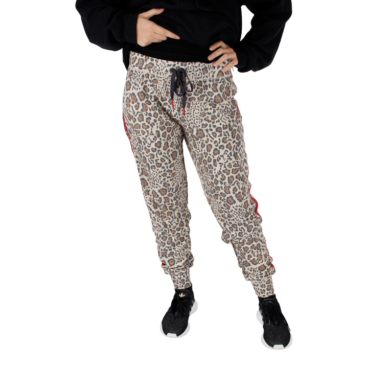 Wild Heart Leopard Red Taping Jogger