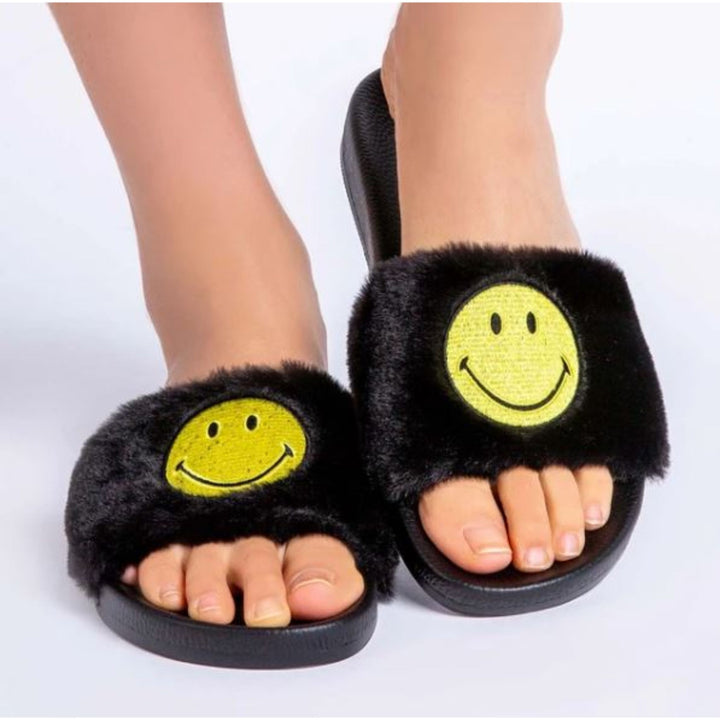 Smiley Fur Slipper