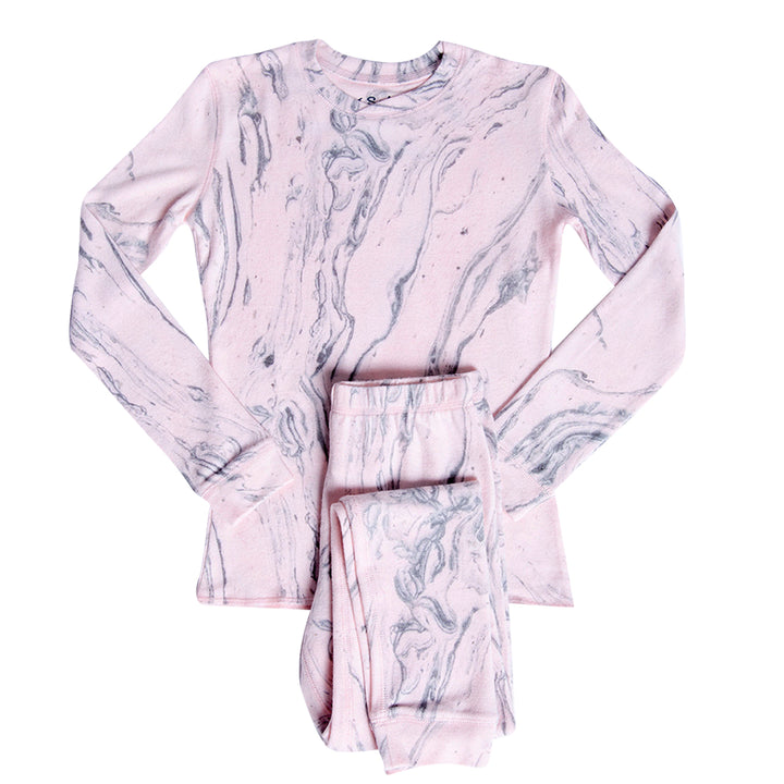 Pink Marble 2 Piece Set