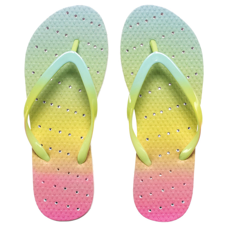 Youth Size Rainbow Ombre Flip Flops