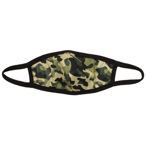 Kids Green Camo Mask
