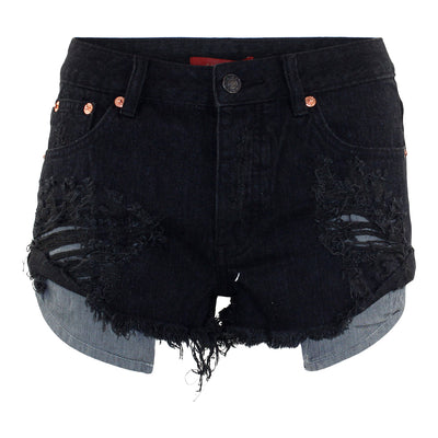 Distressed Roll Up Short