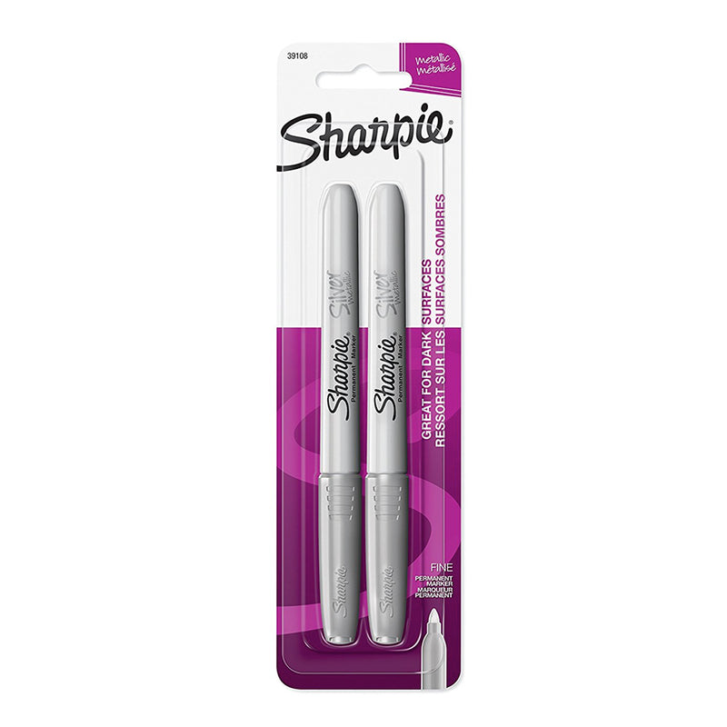 Two Pack Silver Markers