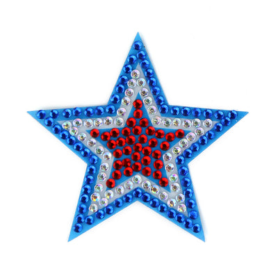 Red White and Blue Star Two Inch Sticker