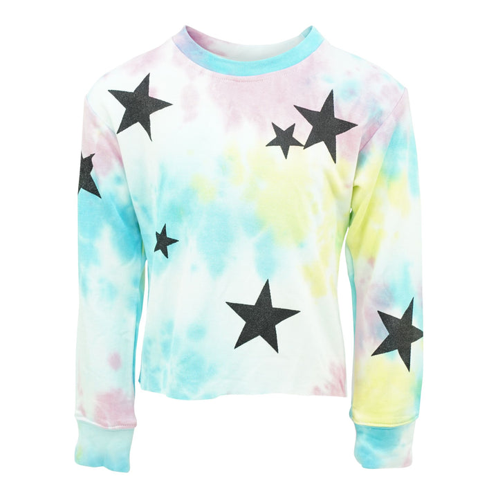 Tie Dye Sweatshirt with Black Stars