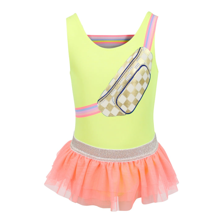 1pc Fanny Pack Screen Swimsuit with Tutu