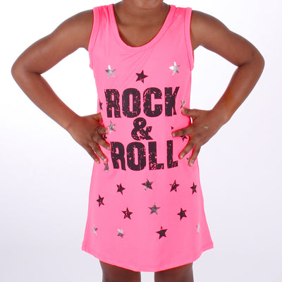 Tank Dress with Rock Roll Stars