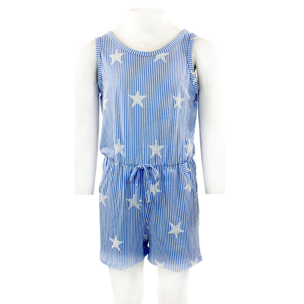 Stripe Romper with Stars