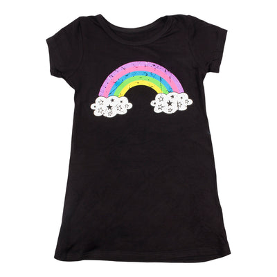 Short Sleeve Dress with Rainbow