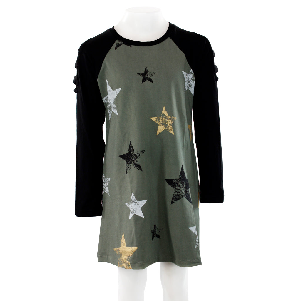 Baseball Dress with All Over Stars