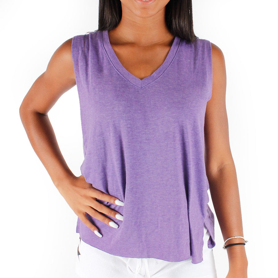 Sleeveless V neck Tank