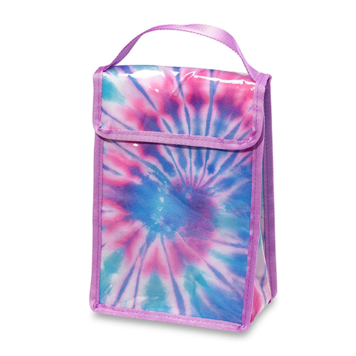 Tie Dye Pink and Blue Snack Bag