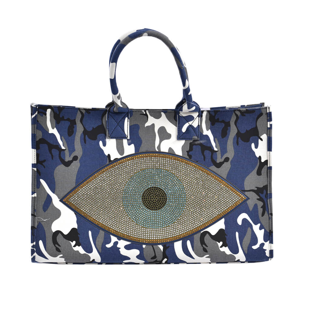 Tote with Evil Eye Crystal