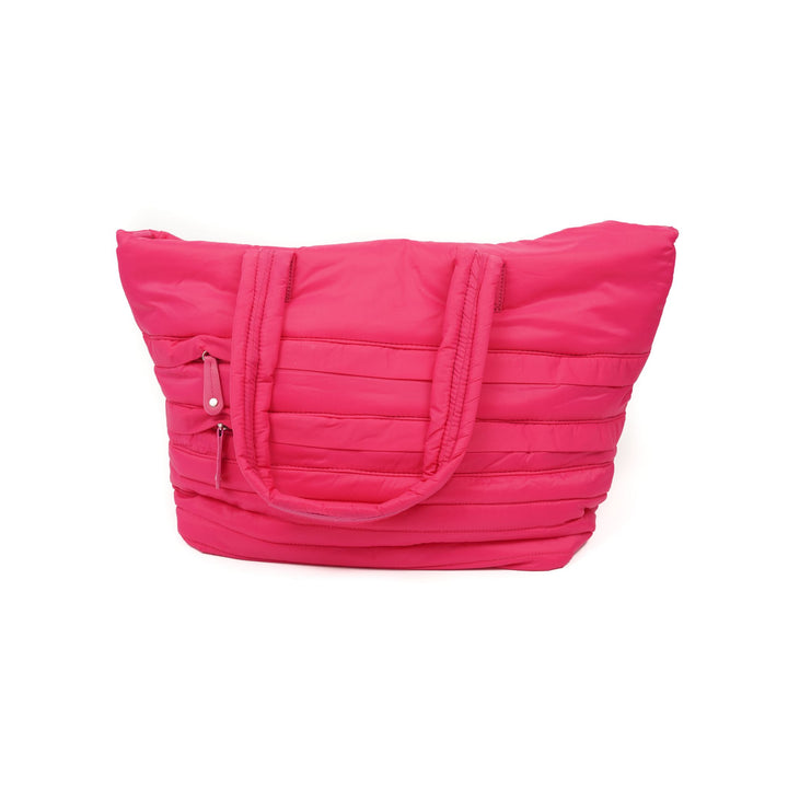 Vibrant Pink Puffer Tote