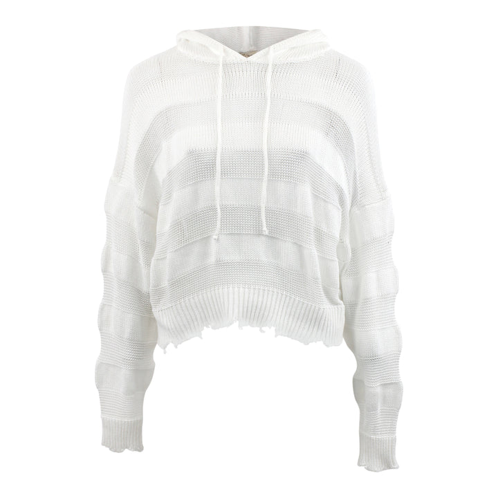Mesh Hooded Sweater