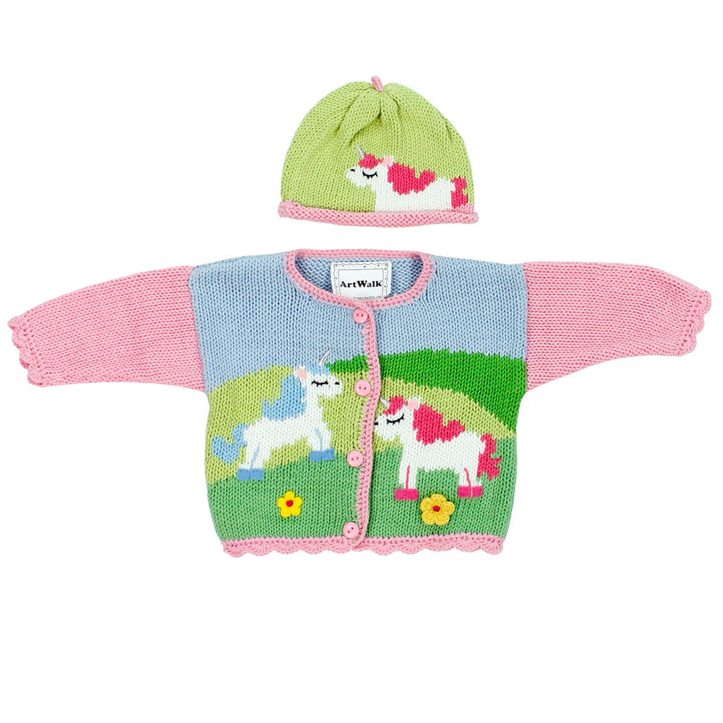 Sweater with Hat Unicorns Are Real