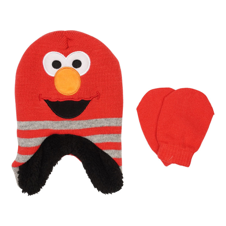 Elmo Hat and Mitten Set