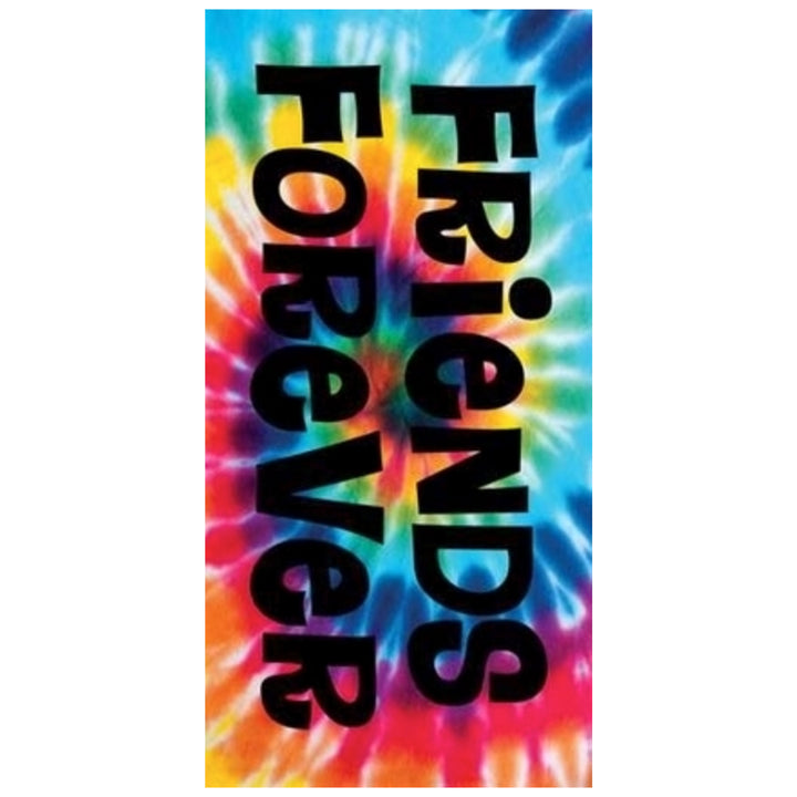 Friends Forever Tie Dye Towel