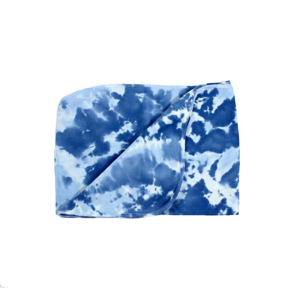 Navy Tie Dye Receiving Blanket