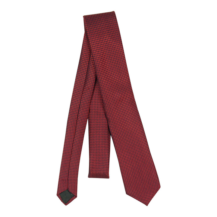 Red/Blk Stitch 48 inch tie